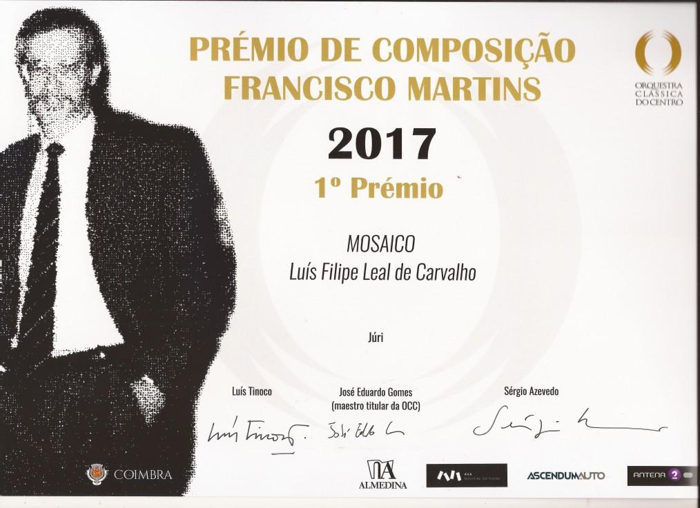 1.º Prémio de Composição Francisco Martos (OCC)